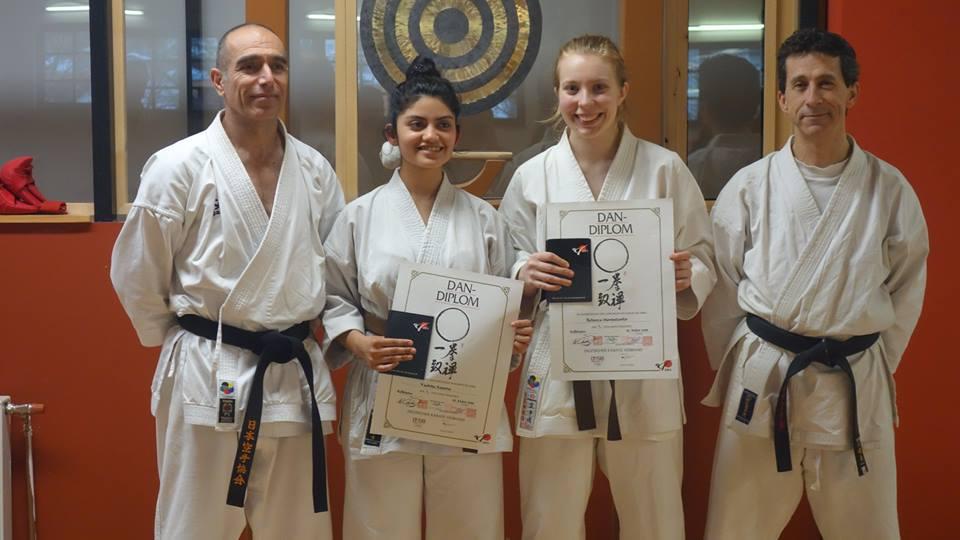 Bestandene Dan-Prüfungen im Karate Dojo Seeheim